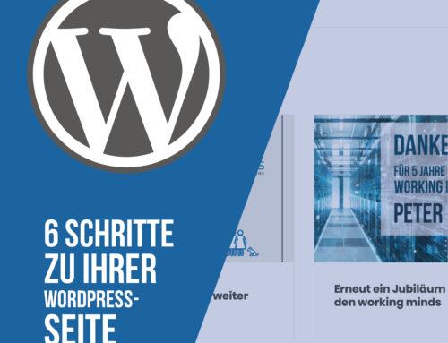 In 6 einfachen Schritten zu Ihrer WordPress-Seite